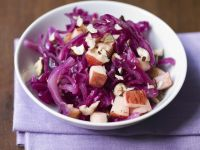 Red Cabbage Salad with Nuts and Apples recipe