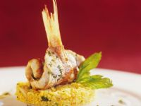 Red Mullet on Couscous with Pine Nuts recipe