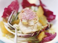 Red Mullet on  Fennel and Radicchio Salad recipe