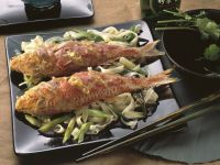 Red Mullet with Rice Noodles recipe