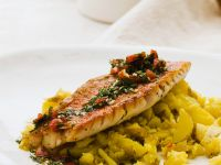 Red Mullet with Saffron Potatoes and Tomato Salsa recipe