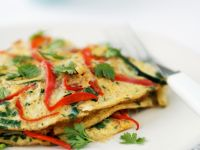 Red Pepper and Egg Pancakes recipe