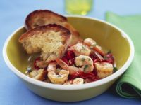 Red Pepper and Shrimps with Toast recipe