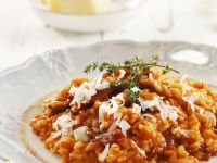 Red Risotto with Parmesan and Thyme recipe