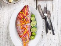 Red Snapper with Julienned Vegetables recipe