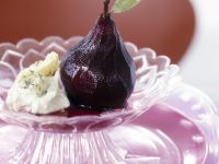 Red Wine Poached Pears with Stilton recipe