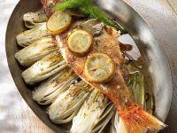 Redfish on Chicory recipe