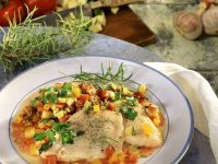 Redfish with Vegetables recipe