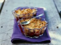 Rhubarb and Blackberry Crumble recipe