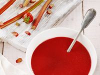 Rhubarb and Strawberry Soup recipe