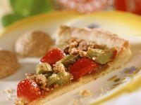 Rhubarb and Strawberry Tart recipe