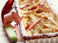 Rhubarb and Vanilla Flan recipe