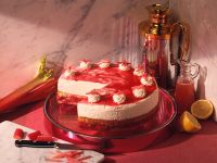 Rhubarb Cream Cake recipe