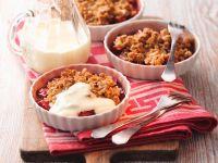 Rhubarb Crumble with Yogurt recipe