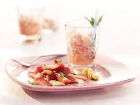 Rhubarb Granita with Strawberry Salad recipe