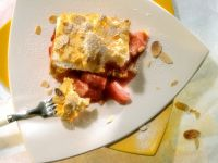Baked Rhubarb with Meringue Topping recipe