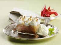 Baked Fruit Pudding with Meringue Topping recipe