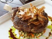 Rib Eye Steaks with Vegetables recipe