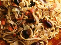 Ribbon Pasta with Anchovies and Olives recipe