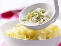 Ribbon Pasta with Fennel and Caper Sauce recipe