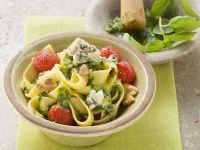 Ribbon Pasta with Pesto recipe