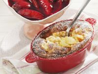 Rice and Apple Pudding with Plum Compote recipe