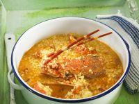 Rice and Crayfish Broth recipe