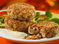 Rice and Lentils Patties with a Yogurt Dip recipe