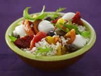 Rice and Pepper Salad with Mozzarella recipe