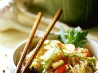 Rice Noodle Bowl with Tofu recipe