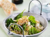 Rice Noodle Salad with Spinach and Feta recipe