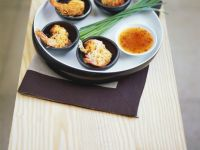 Rice Noodle Shrimp with Asian Chile Dip recipe