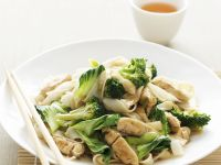 Rice Noodles with Chicken and Broccoli recipe