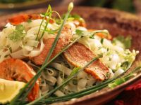 Rice Noodles with Duck Breast and Shrimp recipe