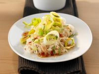 Rice Noodles with Leeks and Sweet and Sour Chile Sauce recipe
