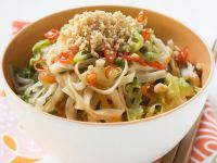 Rice Noodles with Vegetables and Tofu recipe