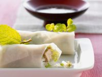 Rice Paper Rolls with Tofu and Vegetables recipe