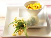 Rice Paper Rolls with Wild Garlic Sprouts recipe