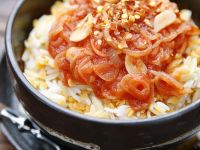 Rice, Pasta and Lentils with Tomato Sauce recipe