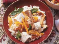 Rice Pilaf with Apricots and Chicken recipe