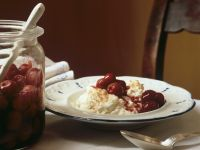 Rice Pudding with Candied Sour Cherries recipe