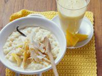Rice Pudding with Coconut, Vanilla and Mango recipe