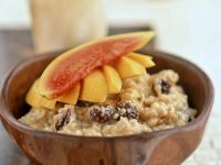Rice Pudding with Tropical Fruit recipe