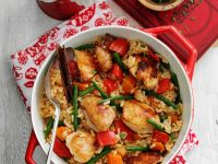 Rice Stew with Vegetables and Chicken recipe