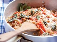 Rice with Cherry Tomatoes, Spinach and Sorrel recipe