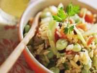 Rice with Favas and Dried Fruit recipe
