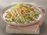 Rice with Vegetables and Smoked Salmon recipe