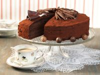 Rich Chocolate Cake with Truffle Filling recipe