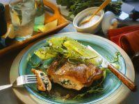 Ricotta and Arugula Stuffed Veal Chops recipe