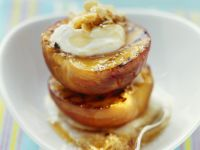 Ricotta and Honey Grilled Peaches recipe